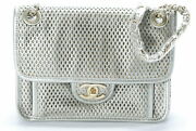 French Riviera Chain Bag Champagne Color Calf With Guarantee No.4045