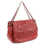 Coco Mark Flap Chain Shoulder Bag Women And039s Red Razor Number 13 No.4904