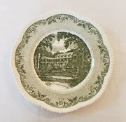 Wedgwood Dartmouth College Campion Green Dinner Plate Cauldon Lace Dicks House