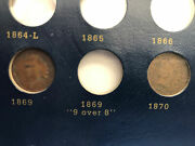 Indian Head Cent Penny 1856-1909-50 31/60 Complete Plus 12 Duplicate Pennies