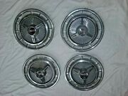 1965 1966 Chevy Impala Ss Spinner Hub Caps 14 Set Of 4 Stainless And Chrome-hc901