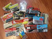 Fishermenand039s Mixed Lot Of Fishing Line Lures Bait Plastic Bait - Most Unopened
