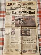Dale Earnhardt February 19th 2001 - The Florida Times-union - Whole Newspaper