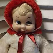 Rushton Snow Baby Rubber Doll Rubber Face Red White Vintage Super Rare
