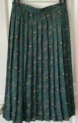 Modcloth Nwt 79 Plus Size Pleated Lined Skirt Onward To A Fresh Green Size 3x