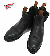 Red Wing 8193 Side Gore Boots 9 12 Discontinued Model Black No.9250