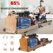 Water Rowing Machine With Led Display Wooden Rowing Machine With Foldable Design