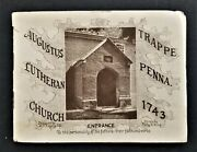 1931 Antique History Trappe Pa Augustus Lutheran Church Builty Muhlenberg