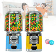 2 Color Metal+pc Chrome Gumball Candy Nut Bulk Vending Machine With Lock/key