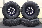 Can Am Maverick 30 Bighorn 2.0 Radial Atv Tire And 14 St-4 Blue Wheel Kit Can10k