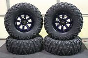 Outlander 1000 X Mr 30 Bighorn 2.0 Atv Tire And 14 St-4 Blue Wheel Kit Can1ca