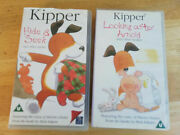 2 X Kipper Animated Video Vhs. Hide And Seek + Looking After Arnold