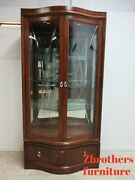 Thomasville Bogart Collection Curio Hutch China Cabinet Breakfront