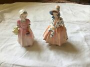 Vintage Royal Doulton Bone China Tinkle Bell And Lily Figurines