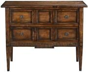 Chest Of Drawers Eliot Transitional Rustic Pecan Solid Wood 2-drawer Molding