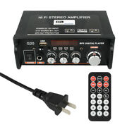 Mini Blue Tooth Audio Amplifier Stereo Receiver Power Amp Usb/sd/fm Music Player