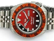 Vintage Seiko 6309-7290 Diver Custom Mod Red Dial 42mm Automatic 553