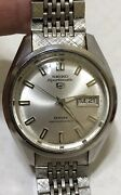 Vintage Seiko 5 Sportsmatic Deluxe 7619-9060 Diashock 25 Jewels Automatic Watch