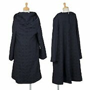 Comme Des Garcons Logo Jacquard Layered Dress Navy Blue S Used Women No.8532
