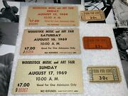 Woodstock 1969 7 Mail Order Ticket Lot W Food For Love Coupons Jimi Hendrix
