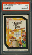 1974 Topps Wacky Packages Dimwit Dots Psa 9