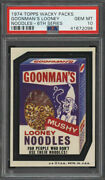 1974 Topps Wacky Packages Goonman's Looney Noodles Psa 10