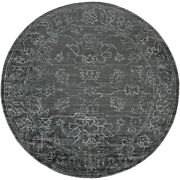 Surya Hightower 8and039 Round Area Rugs In Charcoal And Light Gray Htw3002-8rd