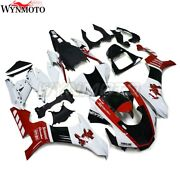 Injection Fairing Kit Red White For Yamaha Yzf R1 2015-2019 Motorcycle Bodywork