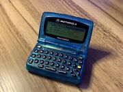 Motorola Talkabout T900 - 2 Way Pager - Model A06qbb5806aa - Transparent Blue