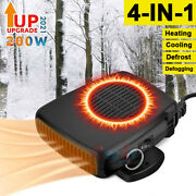 200w Car Heater Dc12v Fast Heating Cooling Fan Auto Plugs In Defogger Defrosts