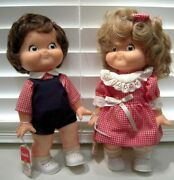Lot Vintage1988 Campbell Soup 10 Dolls W/orig Tags Boy And Girl