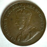 1923 Canada Bronze Cent Coin Very Fine Circulated 1c Canadian Penny George V