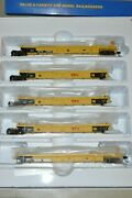 Ho Walthers Trailer Train Ttx Thrall 40and039 Rebuilt Containers Well Car Set 748210