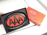 Vintage Nos 70s Aaa Auto Emblem Badge Chrome Part Topper Ford Gm Chevy Amc Cars