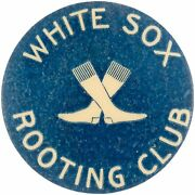 Rare 1906 Chicago White Sox Vs Cubs Rooting World Series Champions Pin Button