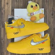 Ds Nike Off White Air Force 1 Low University Gold Yellow Lemonade - Mens Size 11