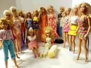 Mixed Lot Of Dolls From 1970's And 80's Barbie, Francie, Darcie, Maxie, Skipper +