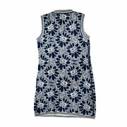 Glory Dress Knit Race Coco Mark Flower Button P63041 Women And039s No.927