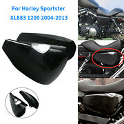 Pair Black Side Battery Covers For Harley Forty Eight Sportster 883 1200 14-up