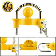 Hitch Lock Universal Coupler Hitch Trailer Lock Fits 1-7/8 2 And 2-5/16 Hd