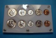 1957 P And D Complete 10 Coin Mint U.s. Silver Set Lustrous Brilliant Uncirculated