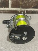 Penn 210 Fishing Reel With Line Made In Usa With Teal Border