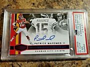 Patrick Mahomes 2018 Plates And Patches Purple Auto Card - Marquee Marks 9/10 .