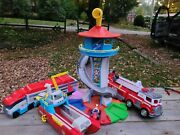 Paw Patrol My Size Lookout Tower Lot + 3 Large Vehicles