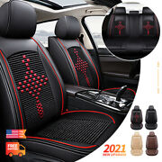 Leather Car Seat Cover Full Set For Dodge Ram 1500 2009-2021 2010-2021 2500 3500