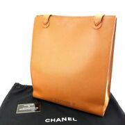 Last Tote Bag A4 Yes Caviar Skin Light Brown M957 Previously No.6901