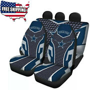 Dallas Cowboys Car Seat Covers 2/5 Seats Auto Pick Up Truck Front Rear Protector