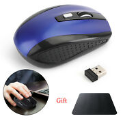 Wireless Optical Mouse Mice Usb Receiver 2.4ghz For Pc Laptop Computer Blue Ua