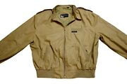 Members Only Tan 90and039s Bomber Jacket Vintage Size Large/46