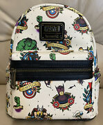 Loungefly Marvel Flash Tattoo Mini Backpack Nwt-excellent Placement